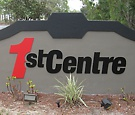 1st Centre, Palm Bay - Flat-cut acrylic lettering