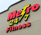 Metro 24/7 Fitness, Orlando - Channel Letters