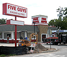 Five Guys, Daytona - Monument Sign and Channel Letters
