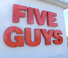 Five Guys, Orange City - Channel Letters