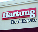 Hartung Real Estate, Melbourne, FL - Dimensional Wall Sign with Channel Letters and FCO Letters