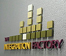 The Integration Factory in Rockledge, FL. Interior Steel Reverse Channel Letter Sign.