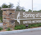 Spring of Life United Methodist Church - Monument Sign