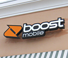 Boost Mobile - Contour Channel Sign