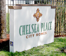 Chelsea Place - Externally-Illuminated Monument with dimensional decoration