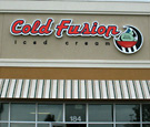 Cold Fusion Iced Cream - Channel Letters and Logo