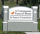 Community Funeral Home - Monument Sign