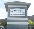 Community Funeral Home in Orlando, FL - Internally illuminated wall sign