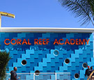 Coral Reef Academy in Melbourne, FL - Formed plastic letters mounted to wall with stand-offs