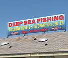 Deep Sea Fishing - Roof-mounted double-faced sign