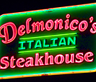 Delmonicos Italian Steakhouse - retrofit sign face with exposed neon channel letters and neon trim