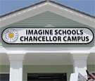 Imagine Schools at Chancellor - Flat-cut dimensional acrylic lettering and logo