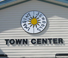 Imagine Schools at Town Center - Flat-cut dimensional acrylic lettering and logo