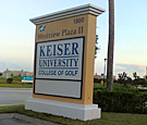 Keiser University: College of Golf, Port St. Lucie - Monument Sign
