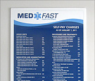 MedFast Urgent Care - Acrylic wall signs with slots to insert printed PVC cost panels