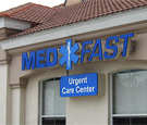 MedFast Urgent Care - Channel letters and capsule