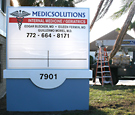 MedicSolutions - Monument Sign with changeable letter track