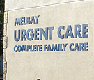 Melbay Urgent Care - acrylic lettering