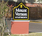 Mount Vernon Apartments - Non-Illuminated Secondary Monument Sign with Painted Decoration