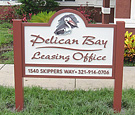 Pelican Bay Apartments Leasing Office - Routed Monument Sign and Guest Parking Sign
