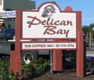 Pelican Bay Apartments - V-shaped Routed Monument Sign