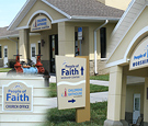 People of Faith Church - Suspended Wall Signs and Directional Sign