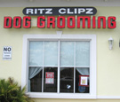 Ritz Clipz Dog Grooming - Channel Letters with non-illuminated capsule