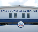Space Coast Area Transit - Flat-cut dimensional acrylic lettering and digitally printed logo