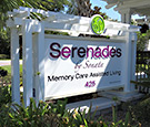 Serenades - by Sonata Memory Care Longwood, FL internally illuminated monument sign with push-through acryclic decoration. Decorative aluminum trellis work to complement the features of the location.