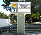 Space Coast Association of Realtors - Monument Sign with Readerboard