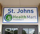 St. Johns HealthMart Pharmacy - Routed Dimensional Wall Sign