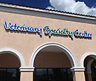 Veterinary Specialty Center in Melbourne, FL Suntree area- Contour Channel Signs