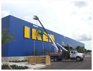Signaccess commercial sign installation service for Ikea meubles orlando floride