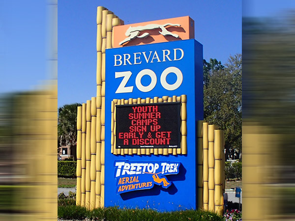 Freestanding Signs with LED Message Centers