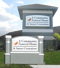 Community Funeral Home - Wall Sign and Monument Sign