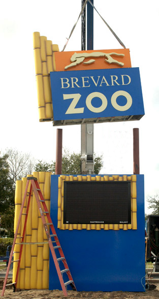 Brevard Zoo's Sign installed by our skilled installers